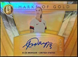 2019-20 Panini Gold Standard Alex Morgan Marks of Gold Autograph #74/149 - USA
