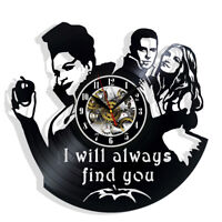 Once Upon a Time Vinyl Wall Clock Record Gift Decor Sign Feast Day Art Woman Man
