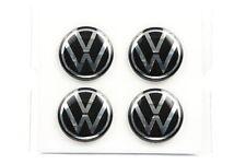 Nuovo Originale VW Set Dinamico Coprimozzo Colori Cromo 53mm/66mm 000071213D