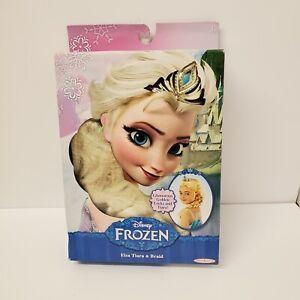Disney Frozen Elsa's Glamorous Golden Locks Tiara & Braid W/ Free Shipping New