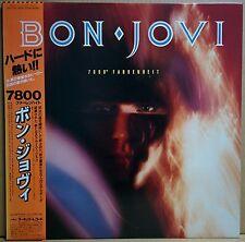 BON JOVI / 7800 FAHRENHEIT w/OBI Sticker Insert Orig JAPAN ISSUE