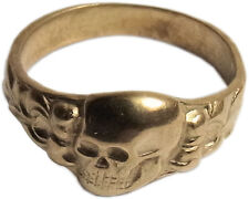 Deutscher ring, morts kopfring, husarenring 23kt plaqué or modèle 1