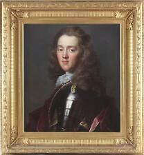 Circle Godfrey Kneller Antique 18thC Old Master Oil Portrait Painting Gent