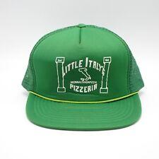 Vtg Trucker Hat - Little Italy Pizzeria - Michigan - Snapback Made in Taiwan
