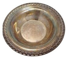 "Bowl Silver Plated 6-1/2 x 1-1/4"" Swirl Edge Candy Serving"