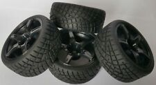 1/10 RC Car on road/touring/rally Wheels & Tyres 5 spoke x4 block tread
