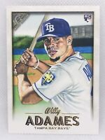 WILLY ADAMES Rookie Card RC 2018 Topps Gallery #66 Tampa Bay Rays Mint