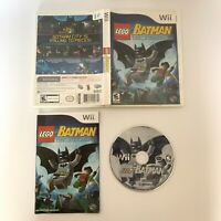 LEGO Batman: The Videogame (Nintendo Wii, 2008) Complete With Manual