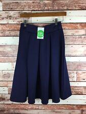 Modern Kiwi.com Navy Blue Pleated Skirt NWT Size Medium