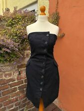 Bolongaro Trevor Black Structured Mini Dress Size S/8