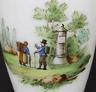 BIEDERMEIER HENKELBECHER MILCHGLAS HANDBEMALT mir BÄUERLICHER SZENE um 1820/30