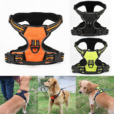 Nylon Reflective Dog Harness Lead Collar Safety Puppy Pet Vest Adjustable Tools