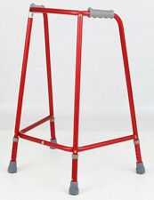 Lightweight Red Dementia Friendly Zimmer Walking Frame