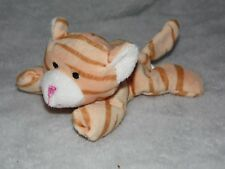MORRISONS CAT SOFT TOY GINGER ORANGE BROWN STRIPE COMFORTER DOUDOU