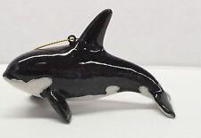 Orca Whale Hanging Ornament  Christmas Nautical Beach Coastal Decor NEW