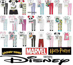 Womens Ladies Official Disney Pyjama Set Pjs Pajamas Nightwear Loungewear new