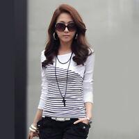 T Shirt Women Cotton 2020 Striped Womens Long Sleeve Tops Slim Fashion T-Shirt