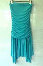 'Who's Billie' Strapless Mini Dress Asymmetrical Raw Hem with Ruching Size XS 6