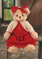 Settler Bears Teddy Bear Chantelle Handmade Red Dress 38cms