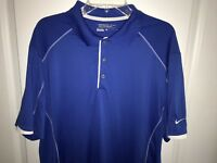 Nike Golf Tour Performance Dri Fit Polo Shirt  Blue Men's Size XL
