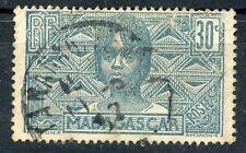 TIMBRE DE MADAGASCAR N° 169 OBLITERE JEUNE FEMME MALGACHE