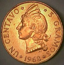 DOMINICAN REPUBLIC 1969 1 CENTAVO F.A.O. ISSUE - ONE YEAR TYPE --CHOICE BU--