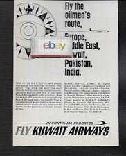 KUWAIT AIRWAYS OILMEN'S ROUTE SUPER SERVICE COMET 4C FROM LONDON 1964 AD
