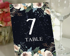 Decorative Table Top Wedding Reception Numbers Frame Card - TN-JSTN74A