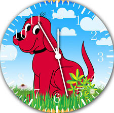 """Clifford Big Red Dog wall Clock 10"""" will be nice Gift and Room wall Decor E09"""