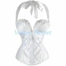 Satin Lace Up White Basques & Corsets for Women