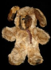 Vtg 1979 Gund Brown Puppy Dog Collector's Classic #1373 Rope Collar Bolo Tie 14""