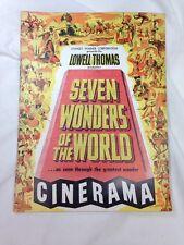 SEVEN WONDERS OF THE WORLD-CINERAMA-ORIGINAL 1950s ERA MOVIE PROGRAM