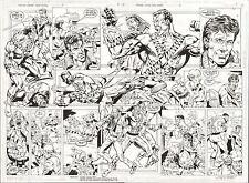 BATMAN PARALYZED JUSTICE LEAGUE #5 DOUBLE PAGE ORIGINAL ART 1ST POST-KNIGHTFALL Comic Art