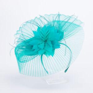 Green Womens Kentucky Derby Crin Fascinator Wedding Church  Hat Headpiece T463