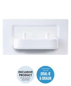 ProofVision TBCHARGE Dual In Wall Electric Toothbrush Charger - White