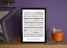 Framed - The Script - The Man Who Can't Be Moved - Poster Art Print - 5x7 Inches