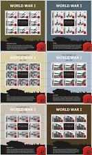 Gibraltar 2015  1e Wereldoorlog  deel 2   ## 6 siervelletjes  ##    postfris/mnh