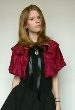 double layered red velvet cape one size tie around