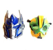 Transformers OPTIMUS PRIME & BUMBLEBEE Hard Plastic Roleplay Cosplay Masks