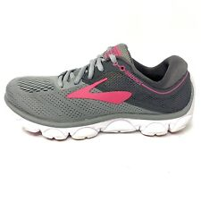 Brooks Anthem Road Running Shoes Sneakers Gray Pink Womens Sz 7 M (B) LIKNU