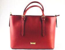 Borsa donna Lusso Milano rosso vera pelle made in Italy Shopping Bag R 87