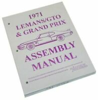 1971 Pontiac GTO Lemans Tempest Judge Factory Assembly Book Manual
