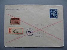 GERMANY BOHMEM & MAHREN, expresse R-cover 1944, single franking