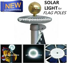 Solar Upgraded flagpole Light 20Leds Top Mount For yard Camping Garden D059