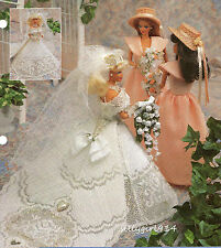 """""""BRIDAL GOWN""""~Annies Plastic Canvas PATTERN ONLY fits BARBIE FASHION DOLL"""