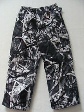NEW Boys Zero XPosur Snow Pants Sz 4 Black White Ski Snowboard Winter Lined NWT