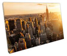 NEW York skyline tela Wall Art foto di grandi dimensioni 75 x 50 cm