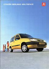 Citroen Berlingo Multispace 2001-02 UK Market Sales Brochure 1.4i 1.6i 16v 1.9D