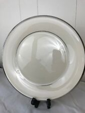 Lenox Solitaire Platinum Rimmed Dinner Plate 10.5� 4 available Mint