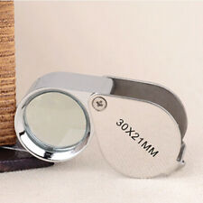 30X21mm Eye Loupe Mini Jewelry Magnifier for Repairing Watch W/Box Chrome Plated